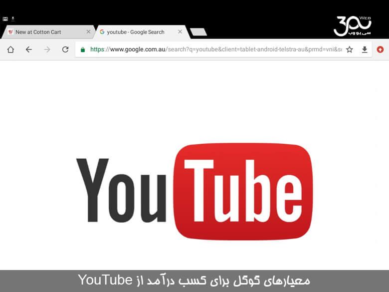 گوگل معیارهای سختگیرانه کسب درآمد برای YouTube اجرا میکند