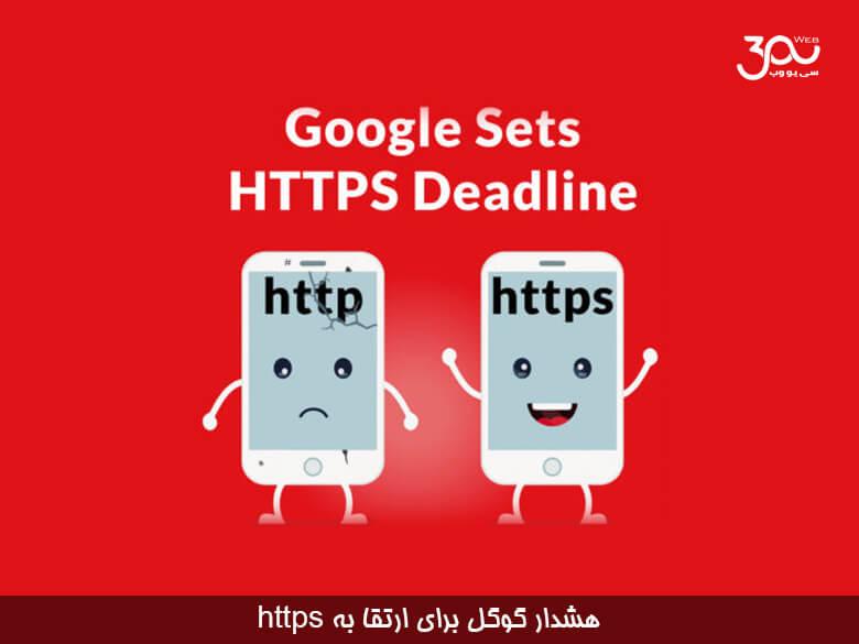 گوگل برای https مهلت قرار داده و به ناشران برای بروزرسانی جدید هشدار داده است .