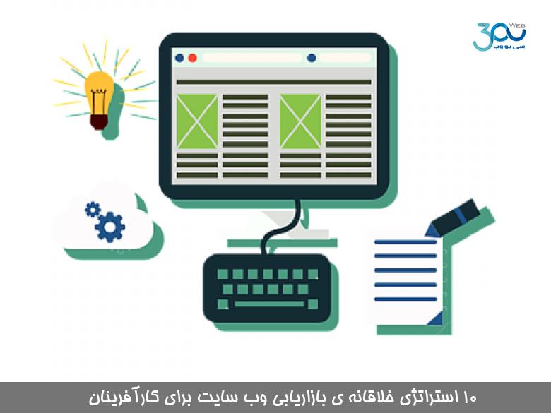 10 استراتژی خلاقانه ی بازاریابی وب سایت برای کارآفرینان